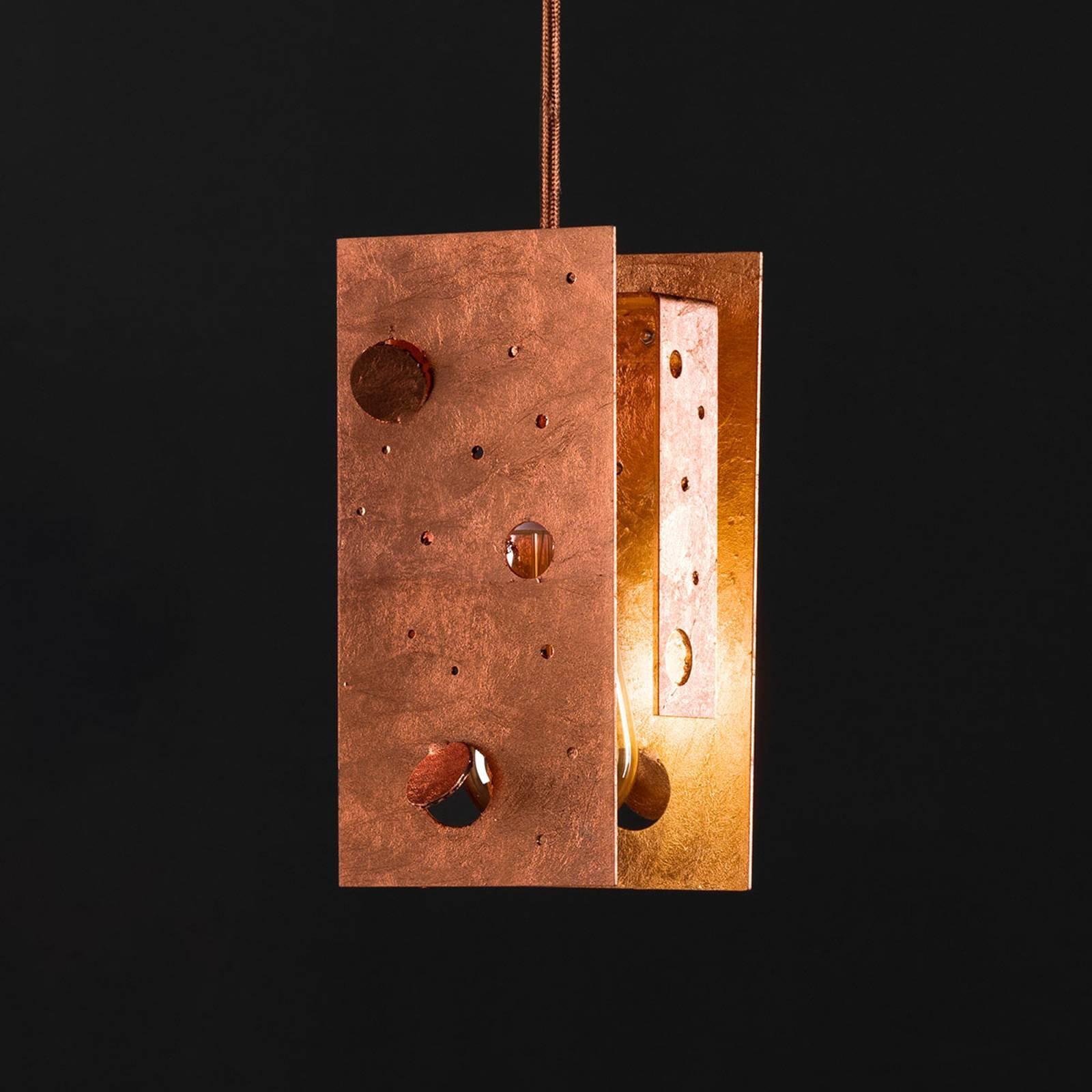 Knikerboker Buchi hengelampe 19x19x40 cm kobber