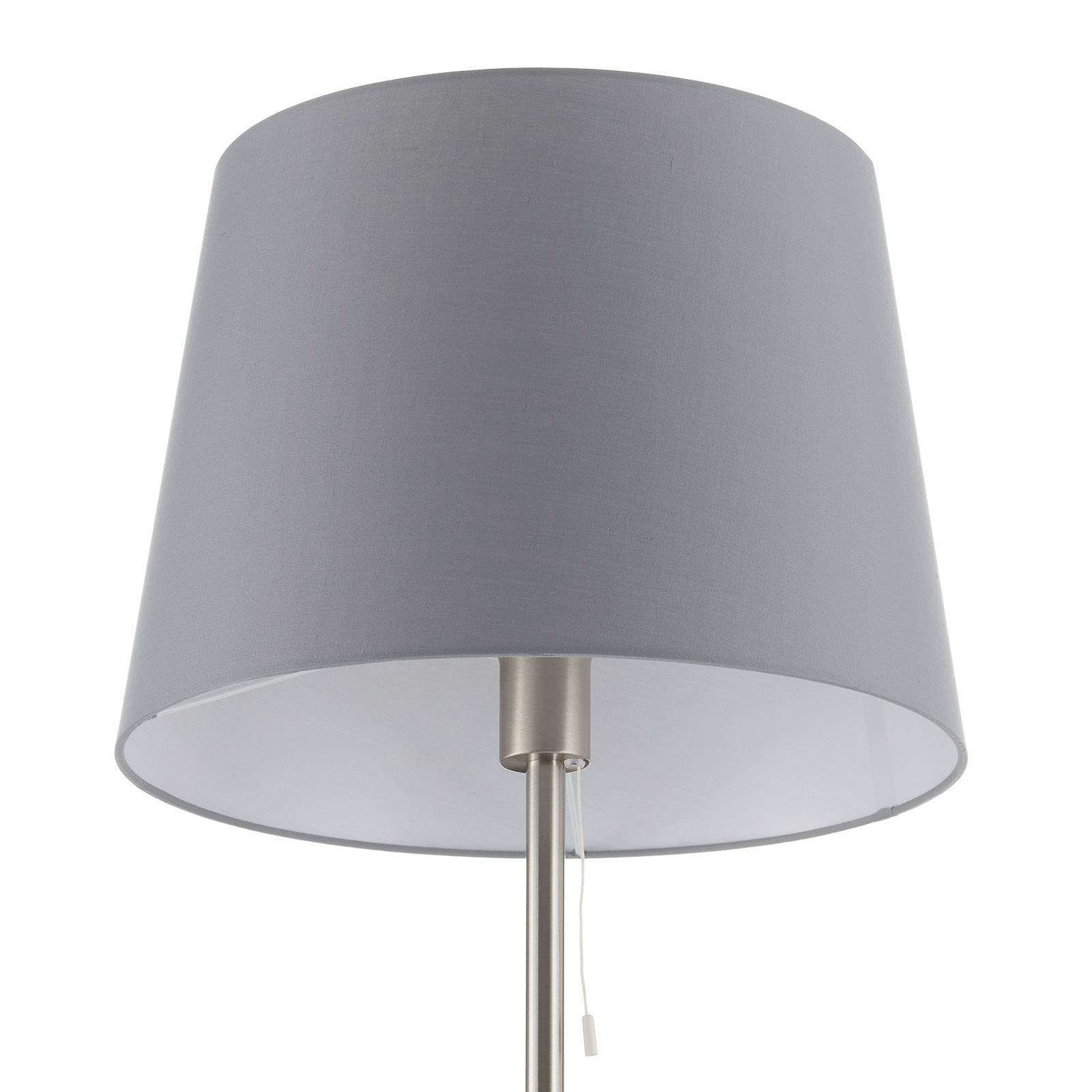 Tekstil-gulvlampe Layer med leselampe grå