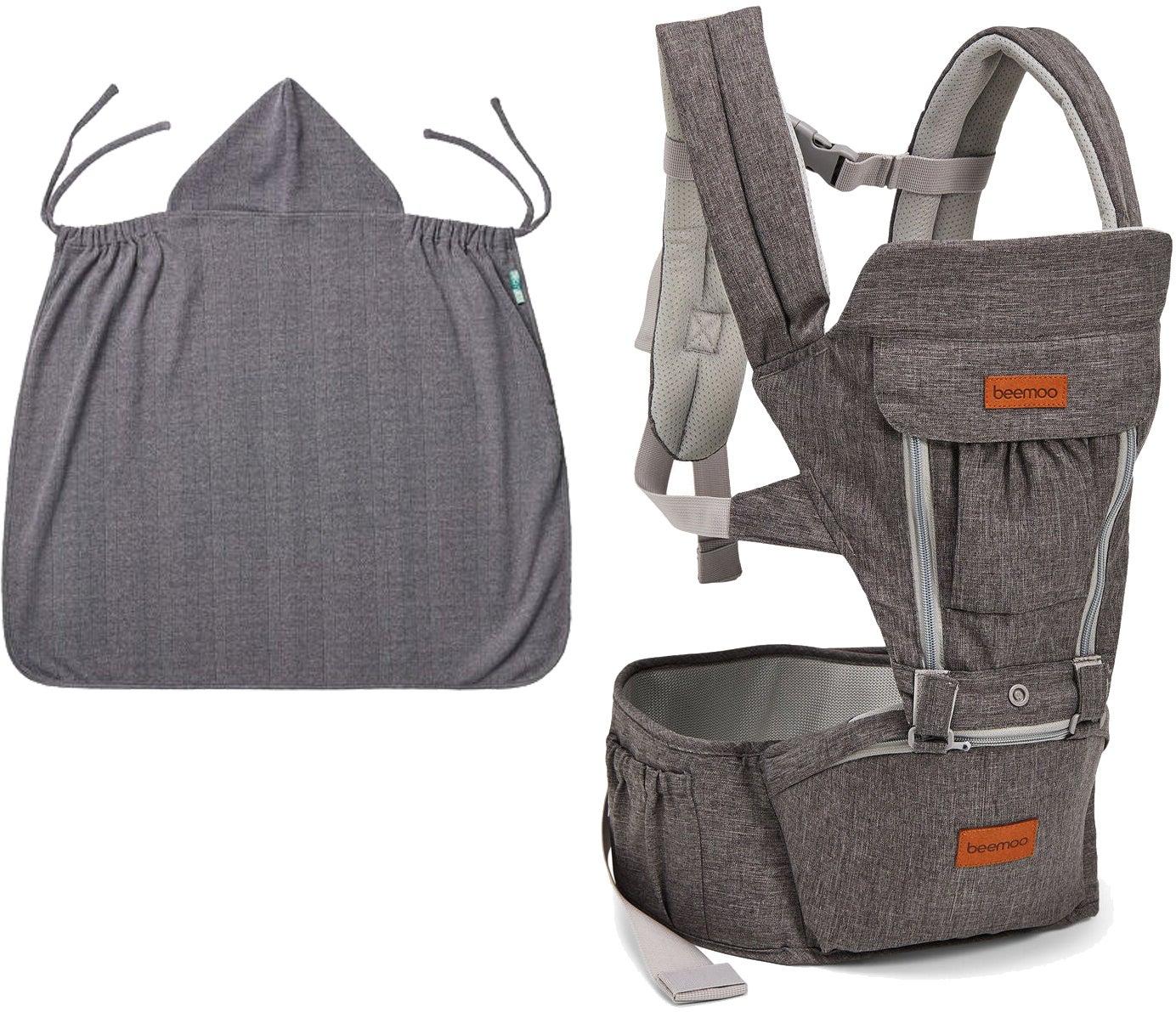 Beemoo Carry Comfort Adjust Kantoreppu + Päällinen, Grey
