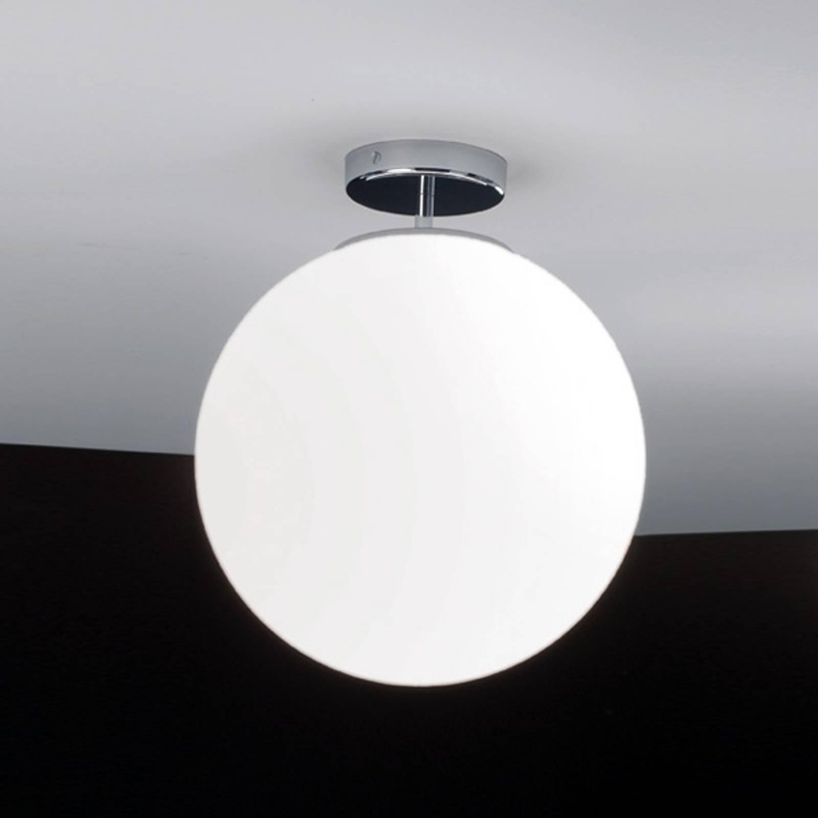 Kromfarget Sferis taklampe av glass på 30 cm