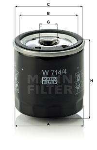 Öljynsuodatin MANN-FILTER W 714/4