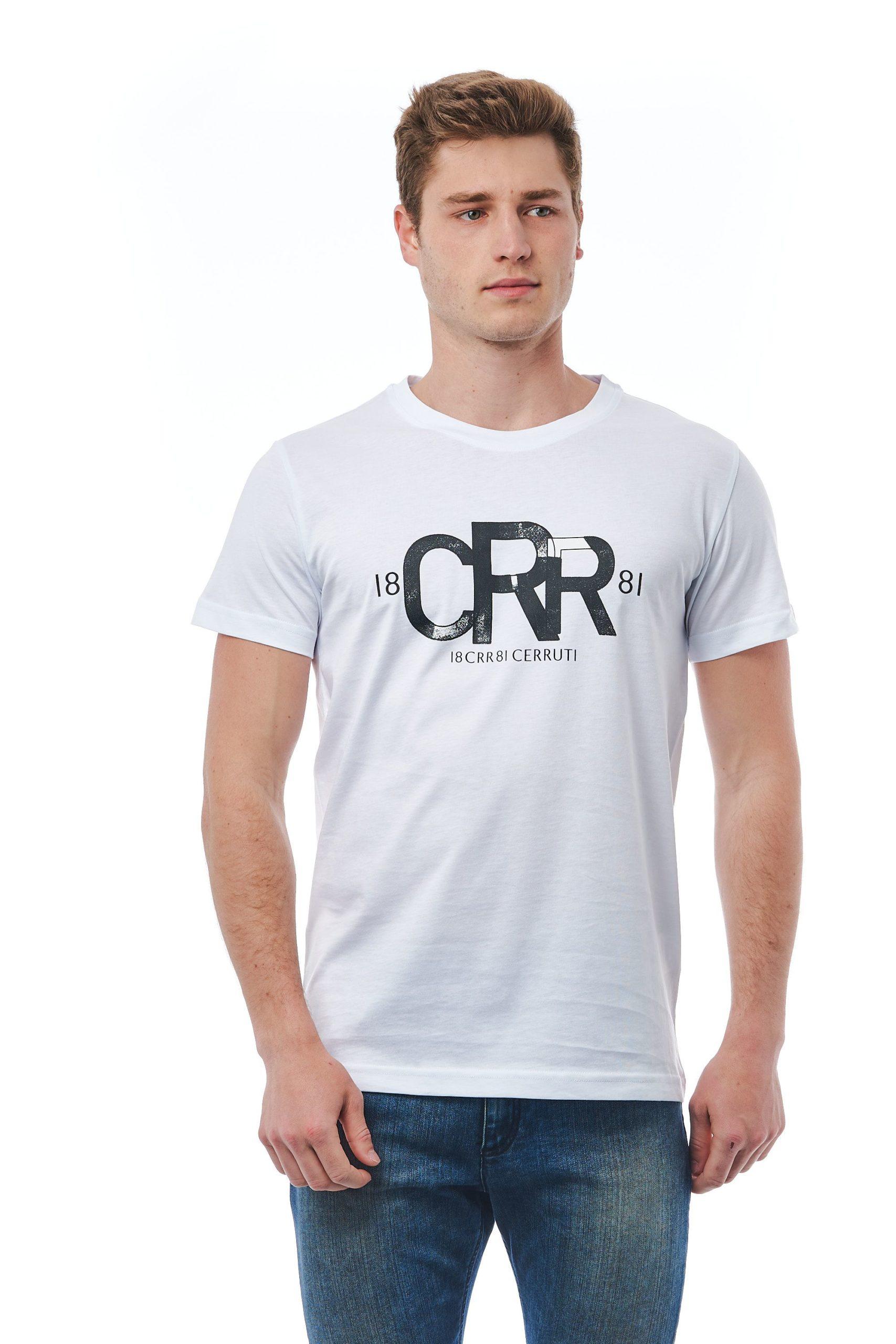 Cerruti 1881 Men's Bianco T-Shirt White CE1409879 - L