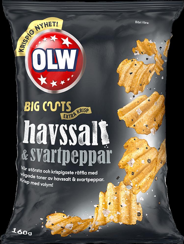 OLW Big Cut Havssalt & Svartpeppar 160g