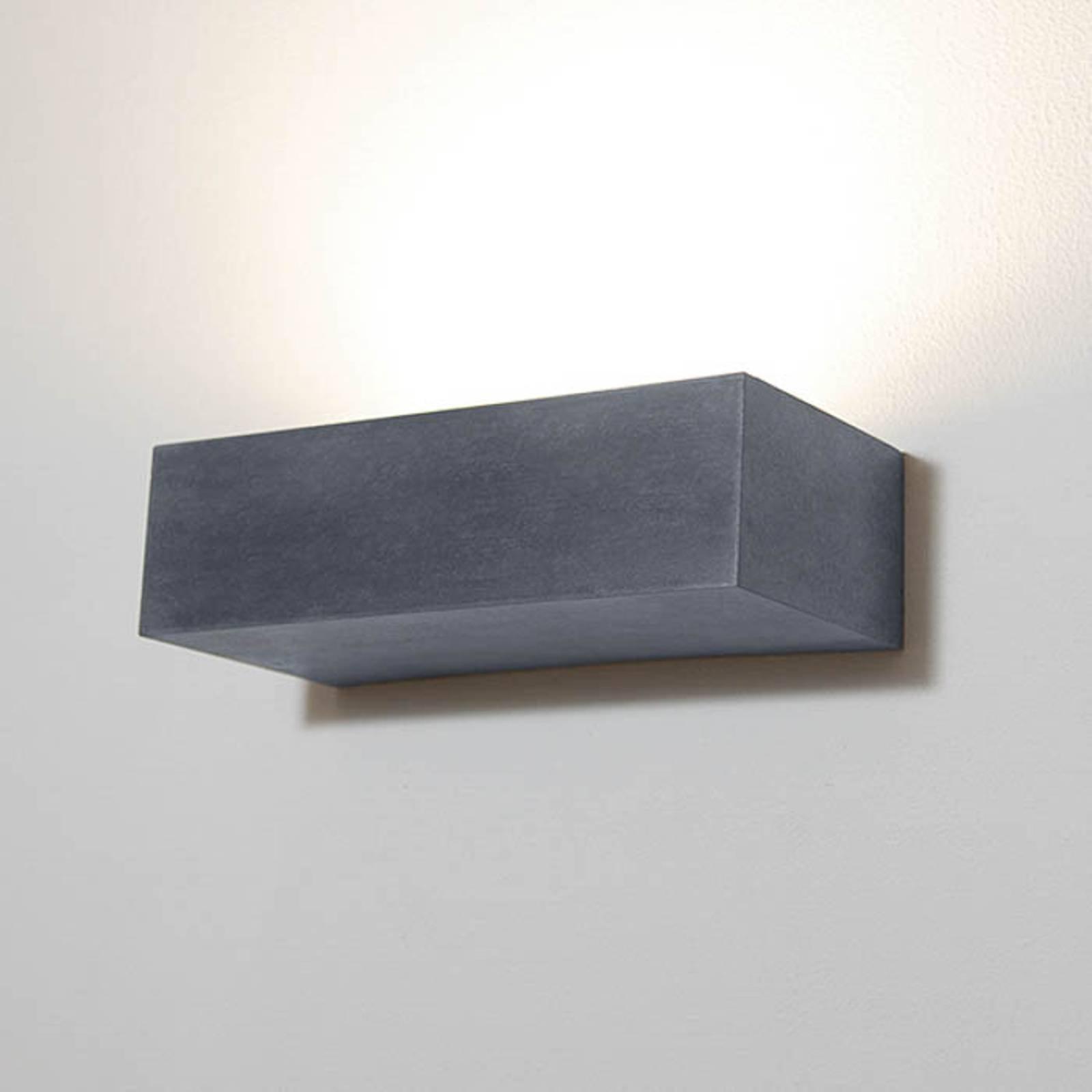 Utendørs LED-vegglampe 1091 kantet, svart