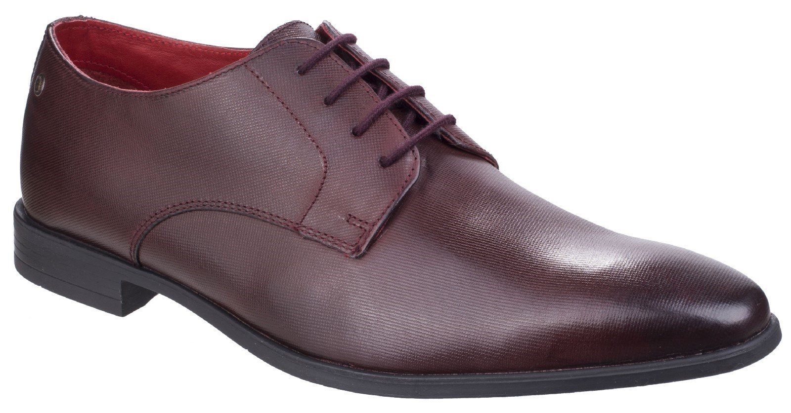 Base London Men's Shilling Waxy Derby Shoe Various Colours 26551 - Bordo 11