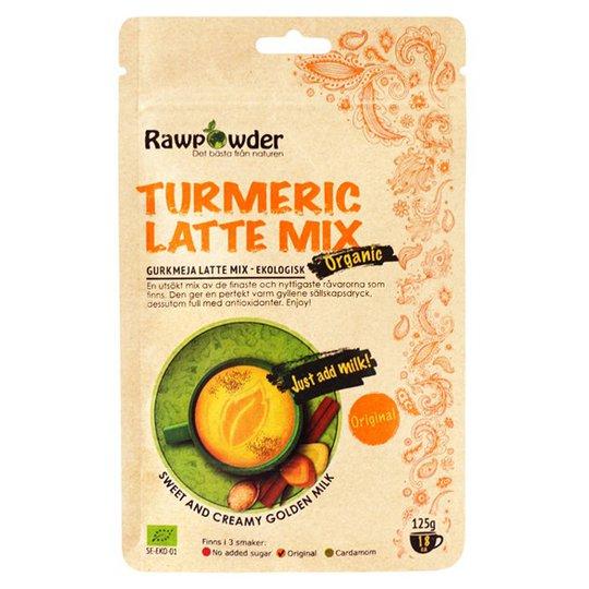 Rawpowder Ekologisk Lattemix Gurkmeja Original, 125 g