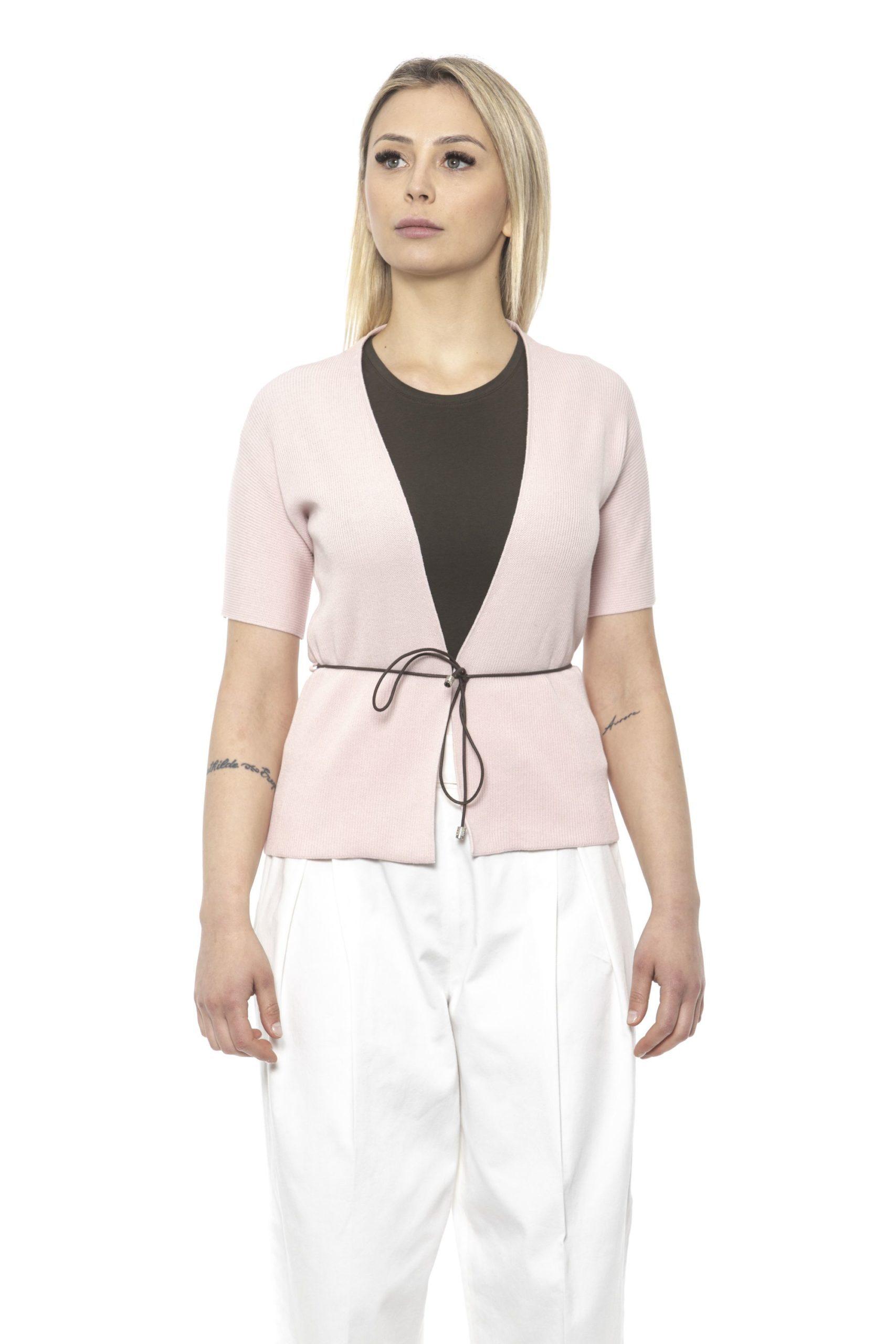 Peserico Women's Rosa Sweater Pink PE1426906 - IT48 | XL