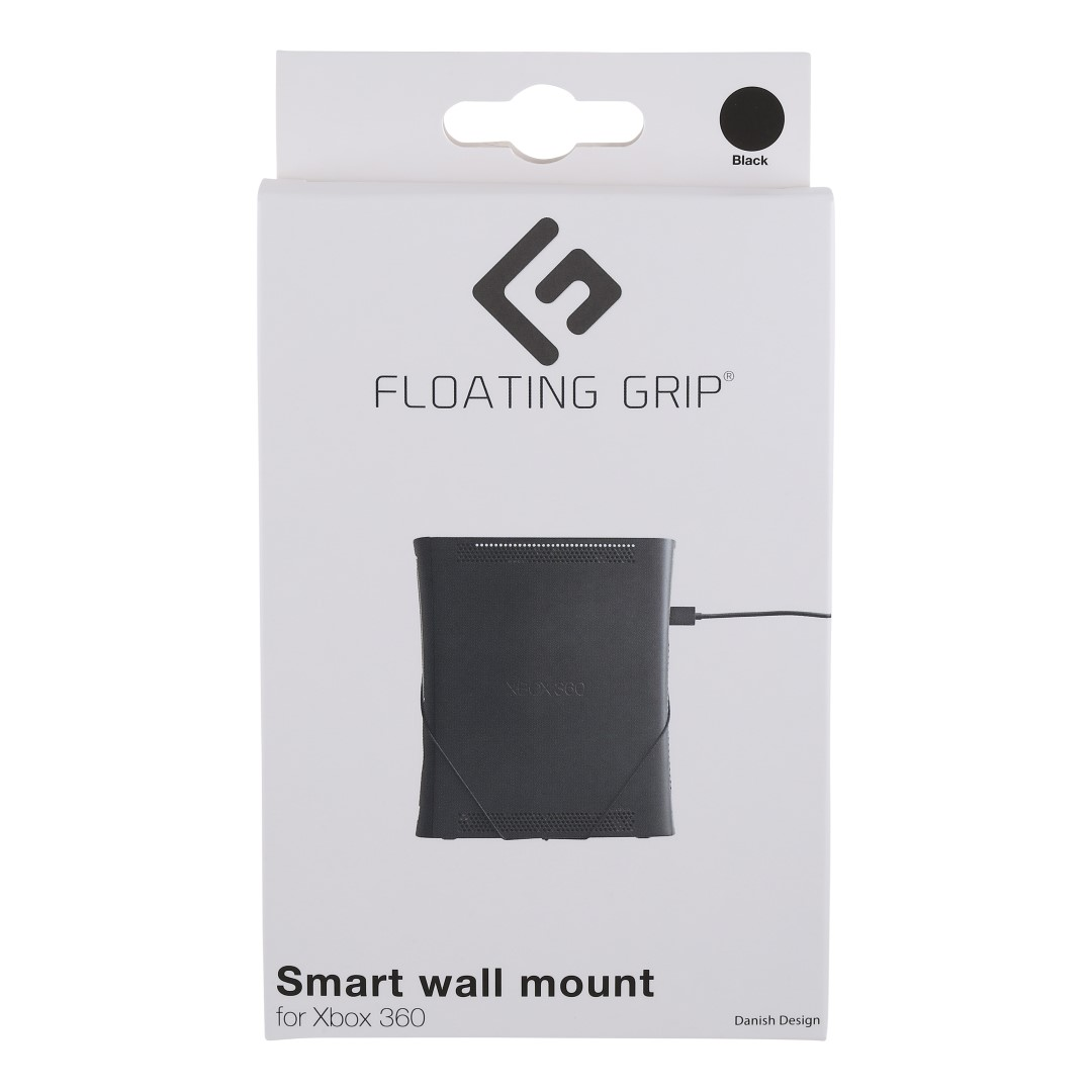 Xbox 360 wall mount by FLOATING GRIP®, Black