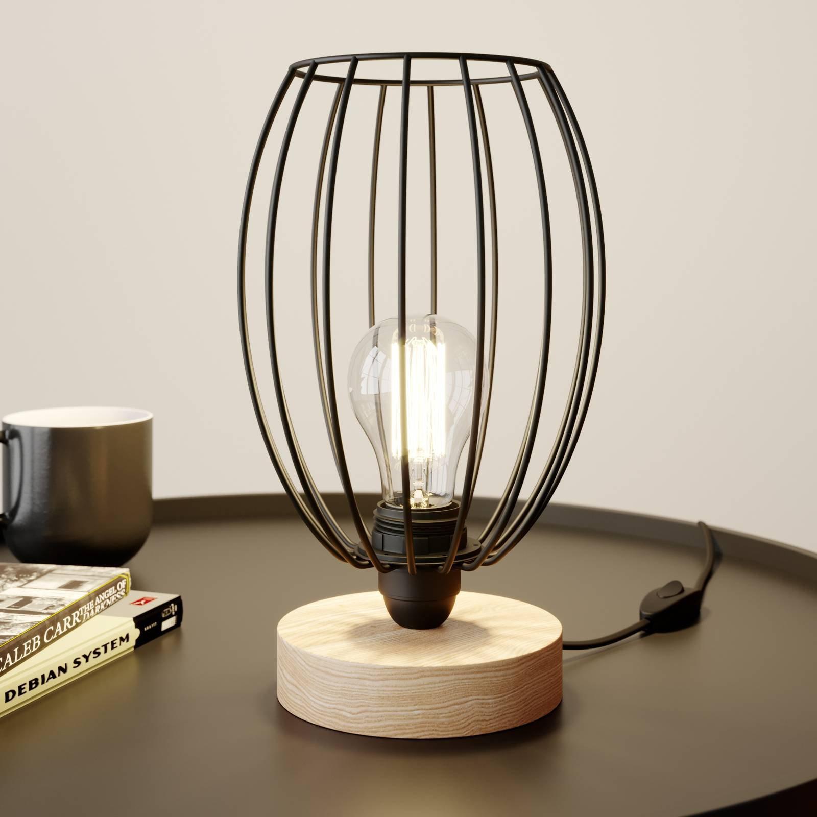 Bordlampe Beevly med burskjerm