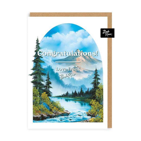 River Mountain Congratulations Greeting Card