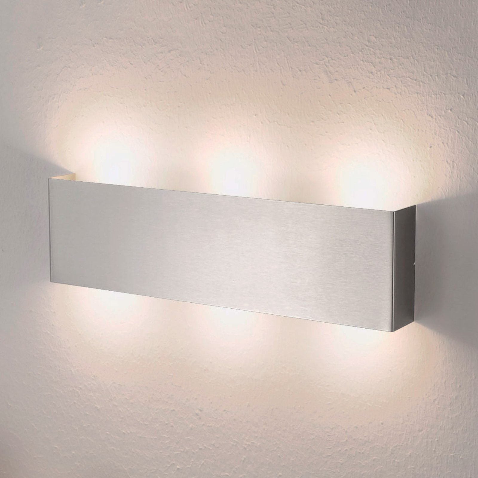 Firkantet LED-vegglampe Maja, 38 cm