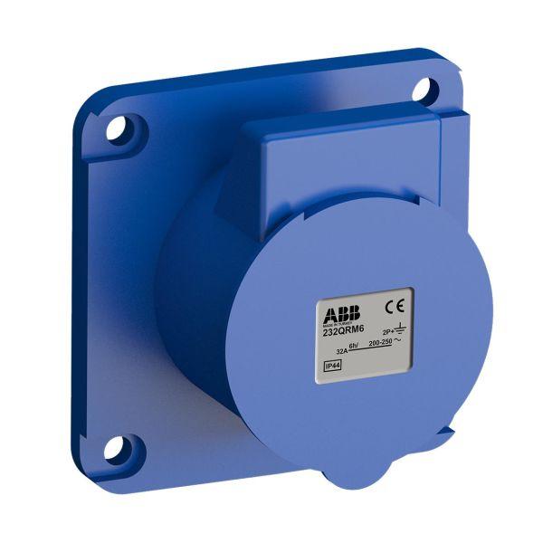 ABB 2CMA102347R1000 Paneelin ulostulo pikaliitettävä, tärinänkestävä Suora, 3-napainen, 32 A, 56x56 mm