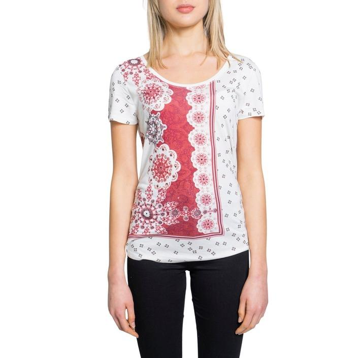 Desigual Women's T-Shirt White 193143 - white XS