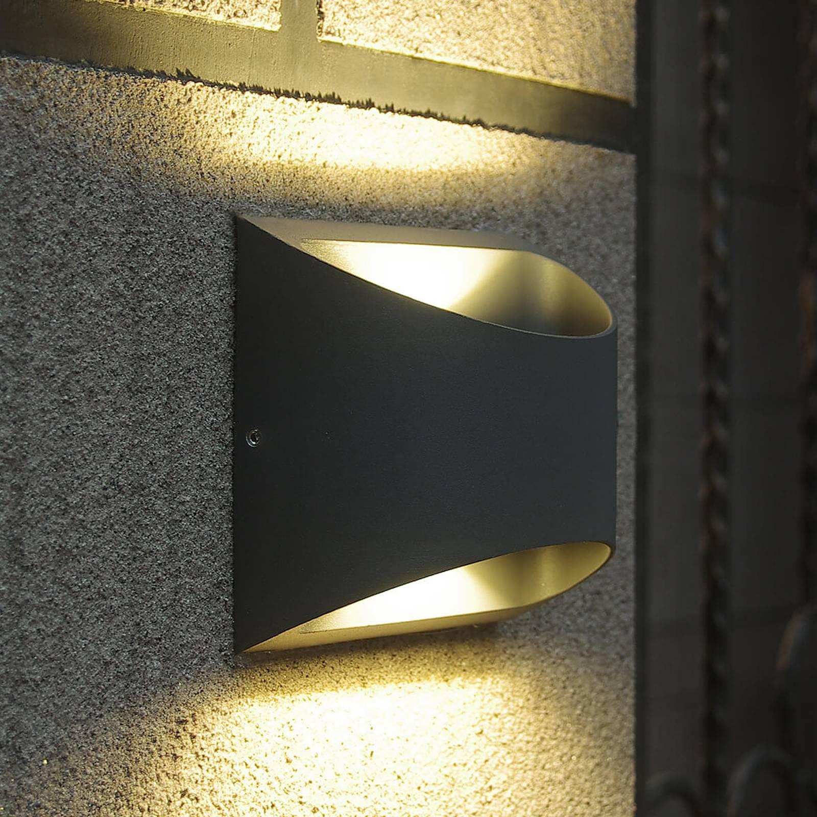 Puolipyöreä Dodd-LED-ulkoseinävalaisin, alumiini