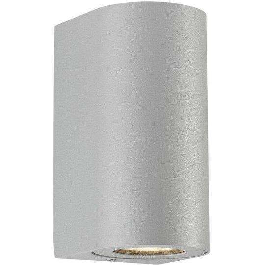 Nordlux CANTO 49721010 Seinävalaisin 2x6W LED, IP44, 2700K Harmaa