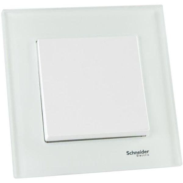 Schneider Electric Exxact Kytkin upotettu, valkoinen, lasikehyksellä 1-napainen/portaikko