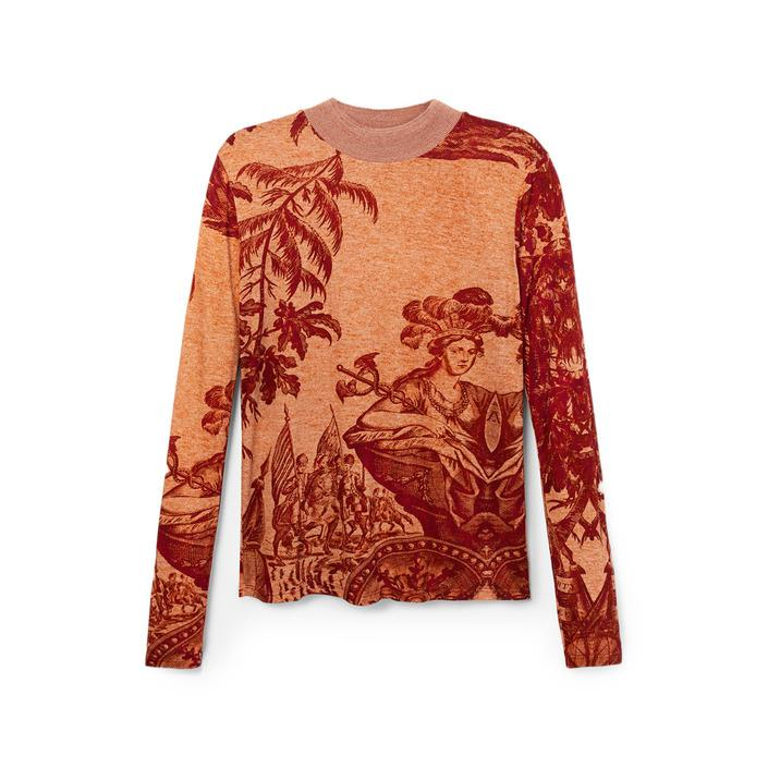 Desigual Women's T-Shirt Beige 180002 - beige S