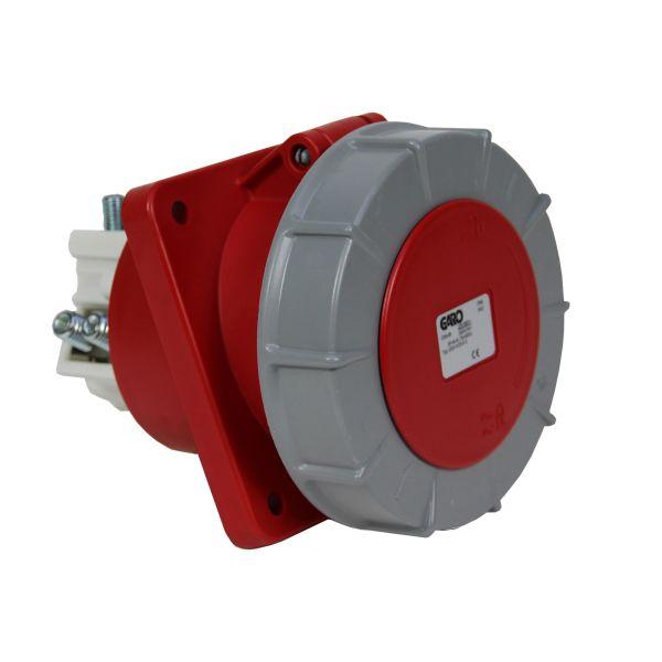 Garo UISV 4125-6 S Paneluttak IP67, 5-polet, 125 A, skrå Rød, 6 h