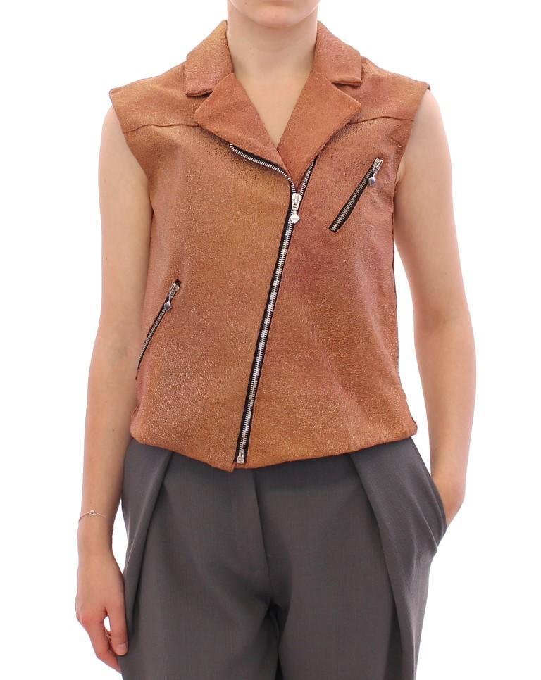La Maison du Couturier Women's Leather Jacket Brown GSS10168 - IT42|M