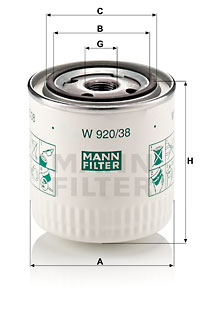Öljynsuodatin MANN-FILTER W 920/38