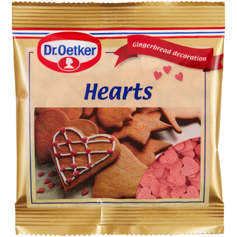 Bakdekoration Hjärtan - 37% rabatt