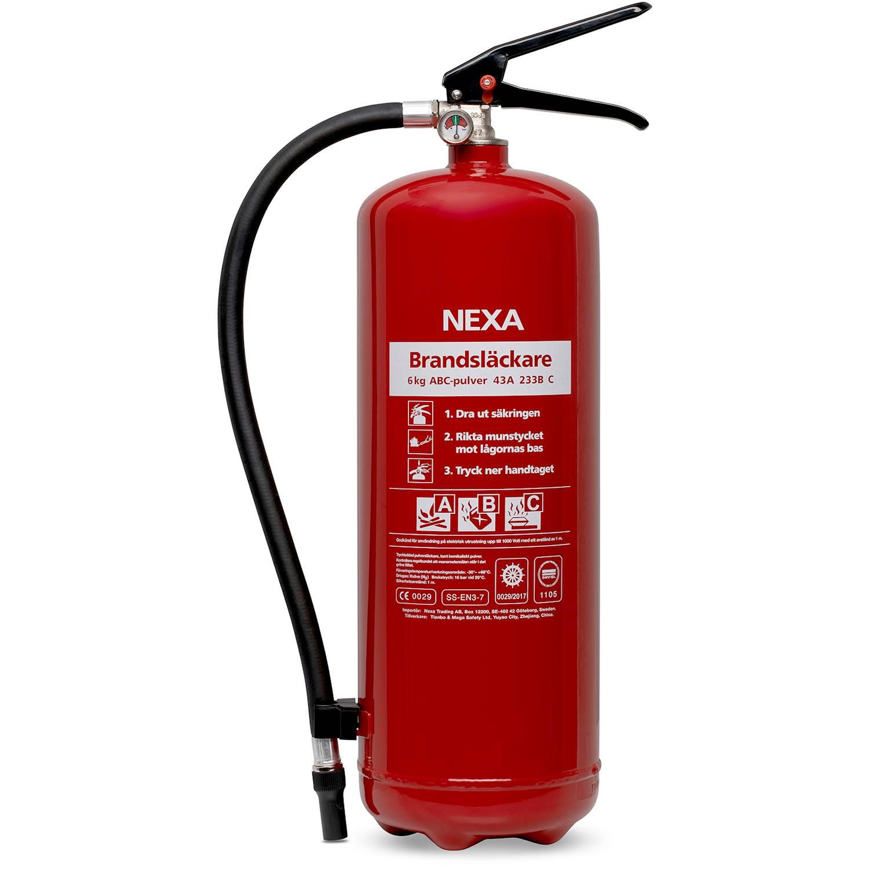 Nexa Pulversläckare 6 kg 43A Röd