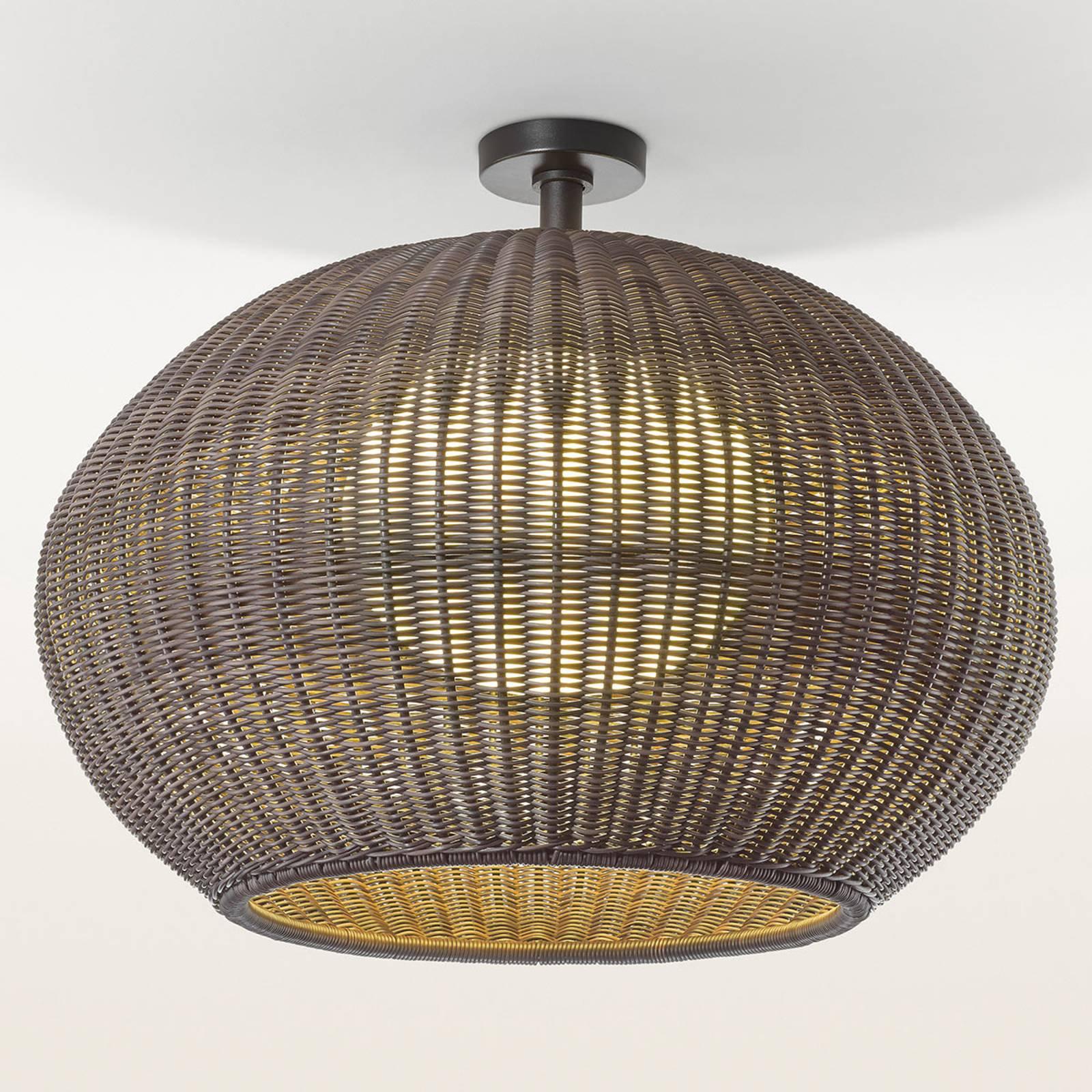 Bover Garota PF/02 utendørs taklampe i brun