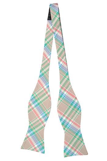 Silke Sløyfer Uknyttede, Beige, grønn, hvit, rød, blå Madras pledd