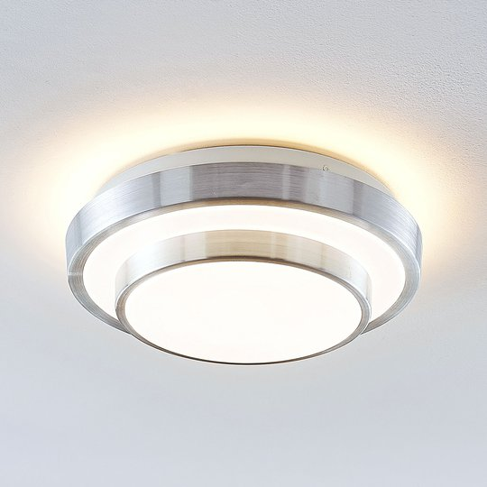 Lindby Naima LED kattovalaisin, pyöreä, 29,5 cm