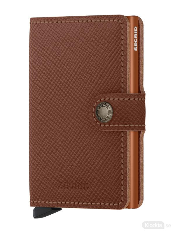 Plånbok SECRID Miniwallet Saffiano Caramel