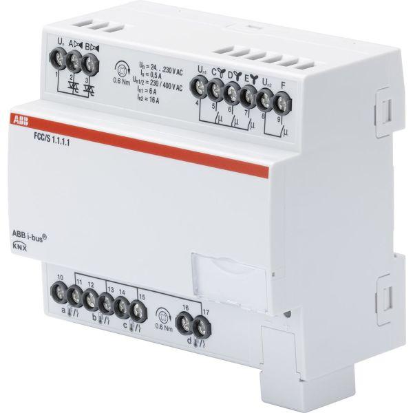 ABB 2CDG110210R0011 Puhallinkonvektorisäädin 3-vaiheinen, 2 venttiiliä moottorin lähtöön Manuaalinen kytkin: Ei