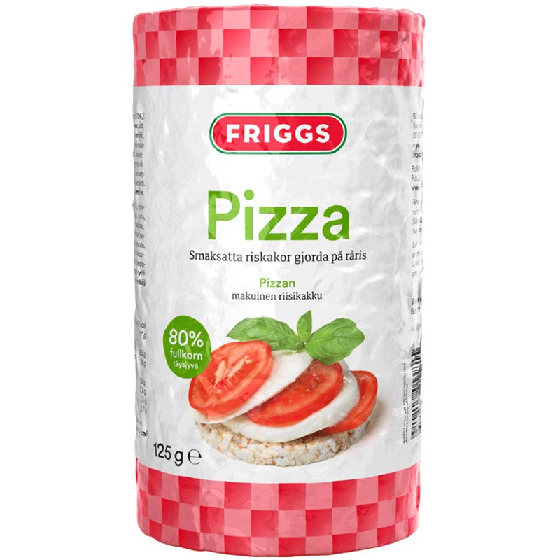 Riskakor Pizzasmak 125g - 38% rabatt