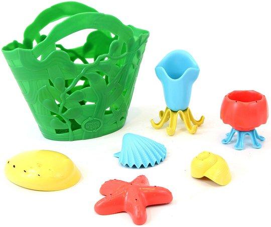 Green Toys Strandsett 7 Deler, Grønn