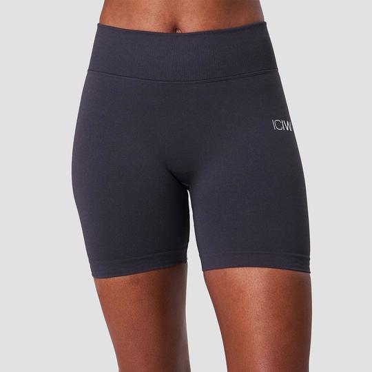 Scrunch Seamless Shorts, Graphite Melange