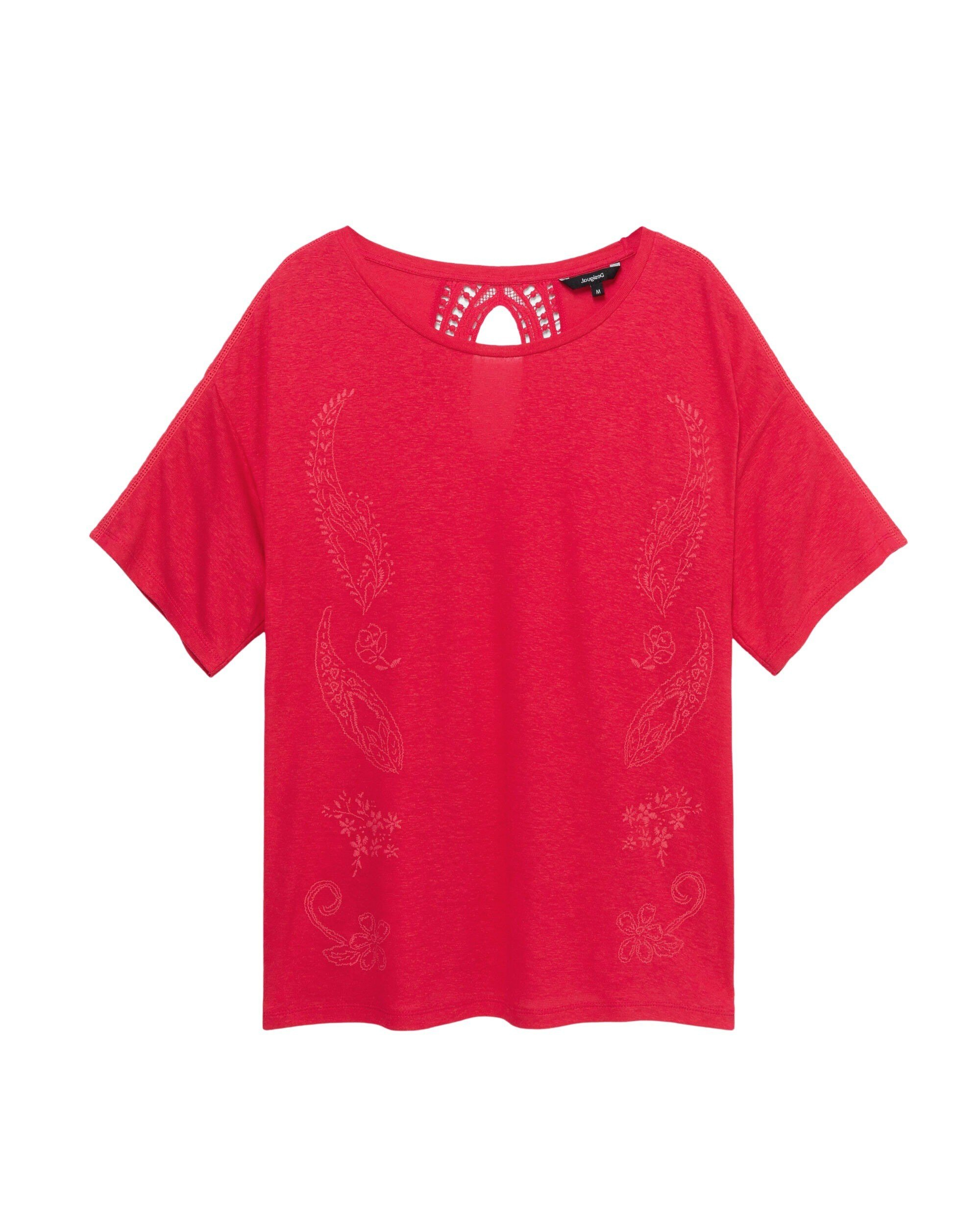 Desigual Women's T-Shirt Various Colours 263185 - fuchsia S
