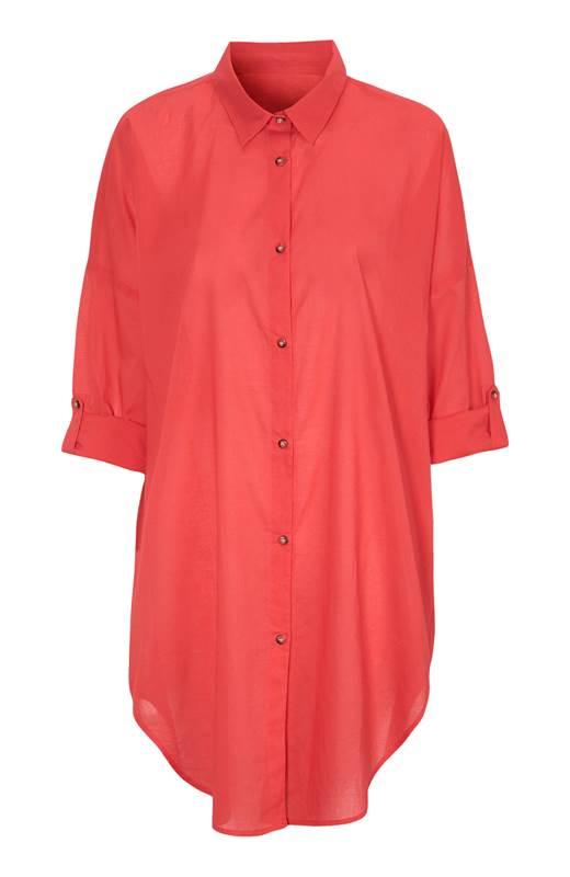 Cellbes Tunn strandskjorta Röd