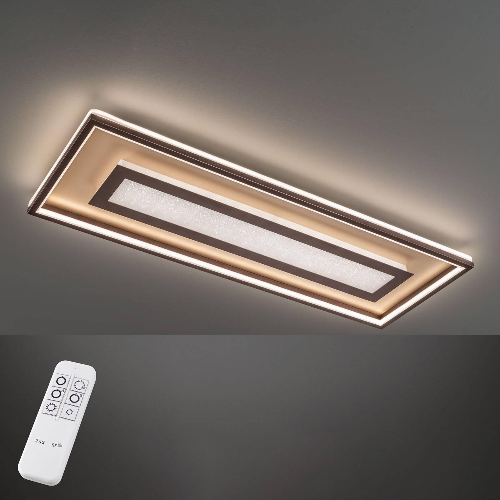 LED-taklampe Bug rektangulær 110x40 cm, rust