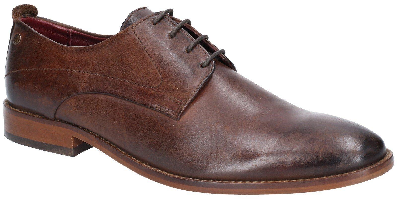 Base London Men's Script Washed Lace Up Shoe Various Colours 28545 - Brown 6