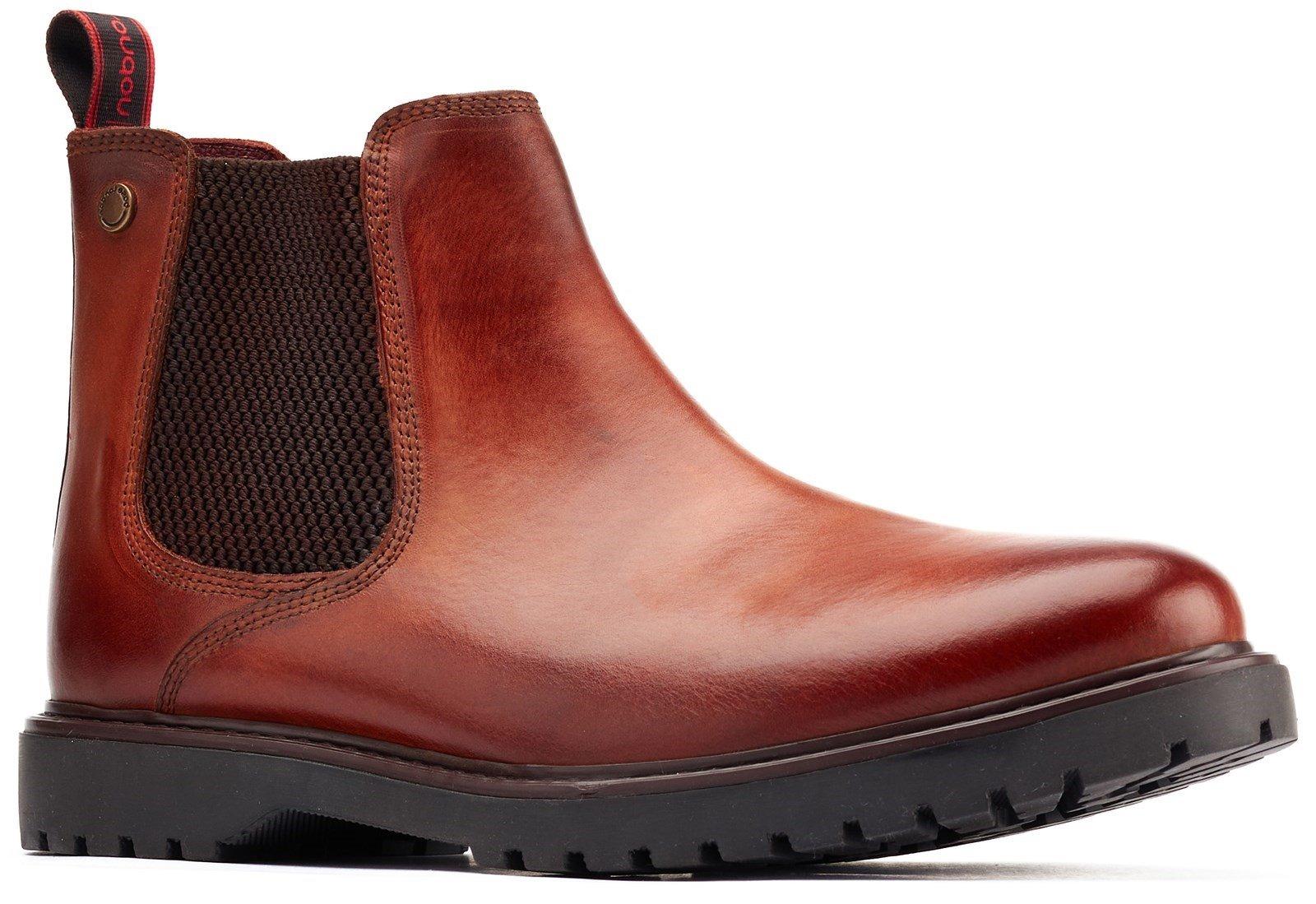 Base London Men's Anvil Chelsea Boot Tan 31229 - Tan 6