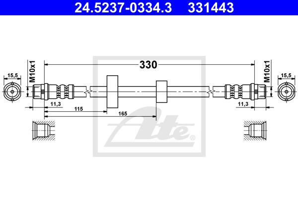 Jarruletku ATE 24.5237-0334.3