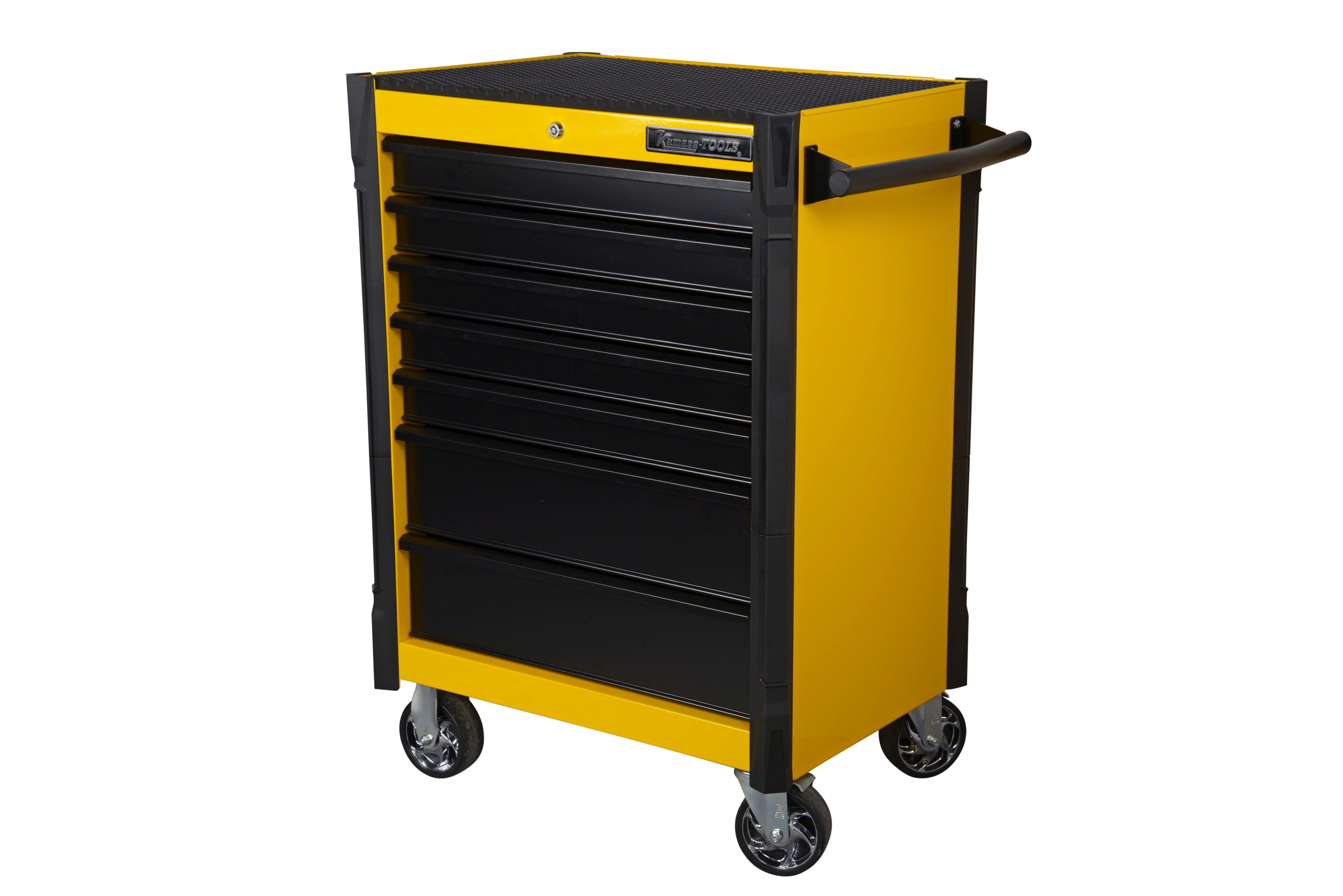 Verktygsvagn. 7 lådor. gul