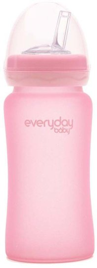 Everyday Baby Sugerørflaske i Glass 240ml, Rose