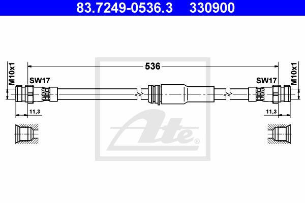 Jarruletku ATE 83.7249-0536.3