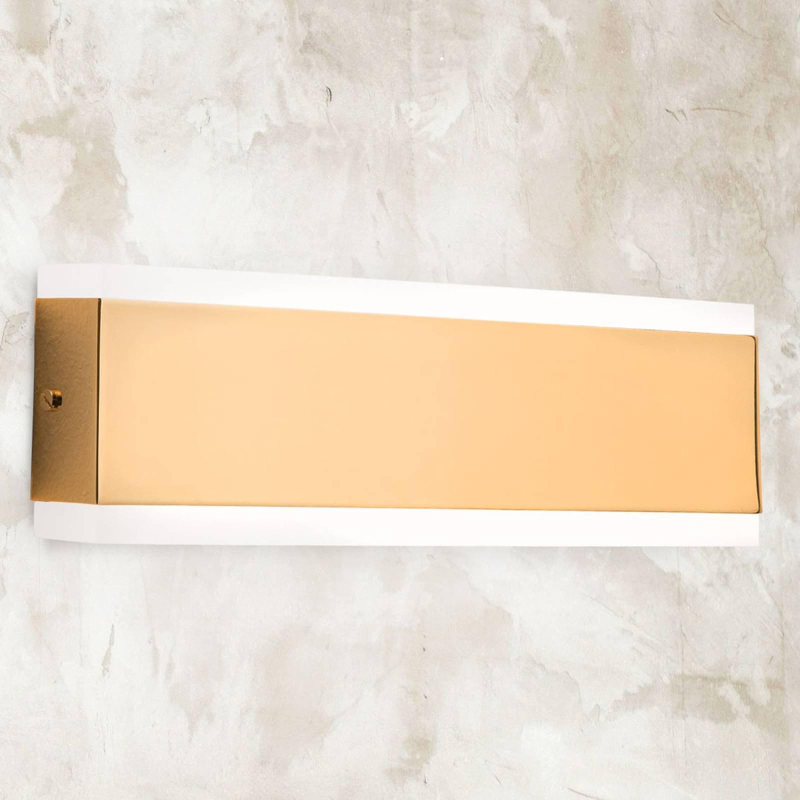 Garik - LED-vegglampe med gyllent hus
