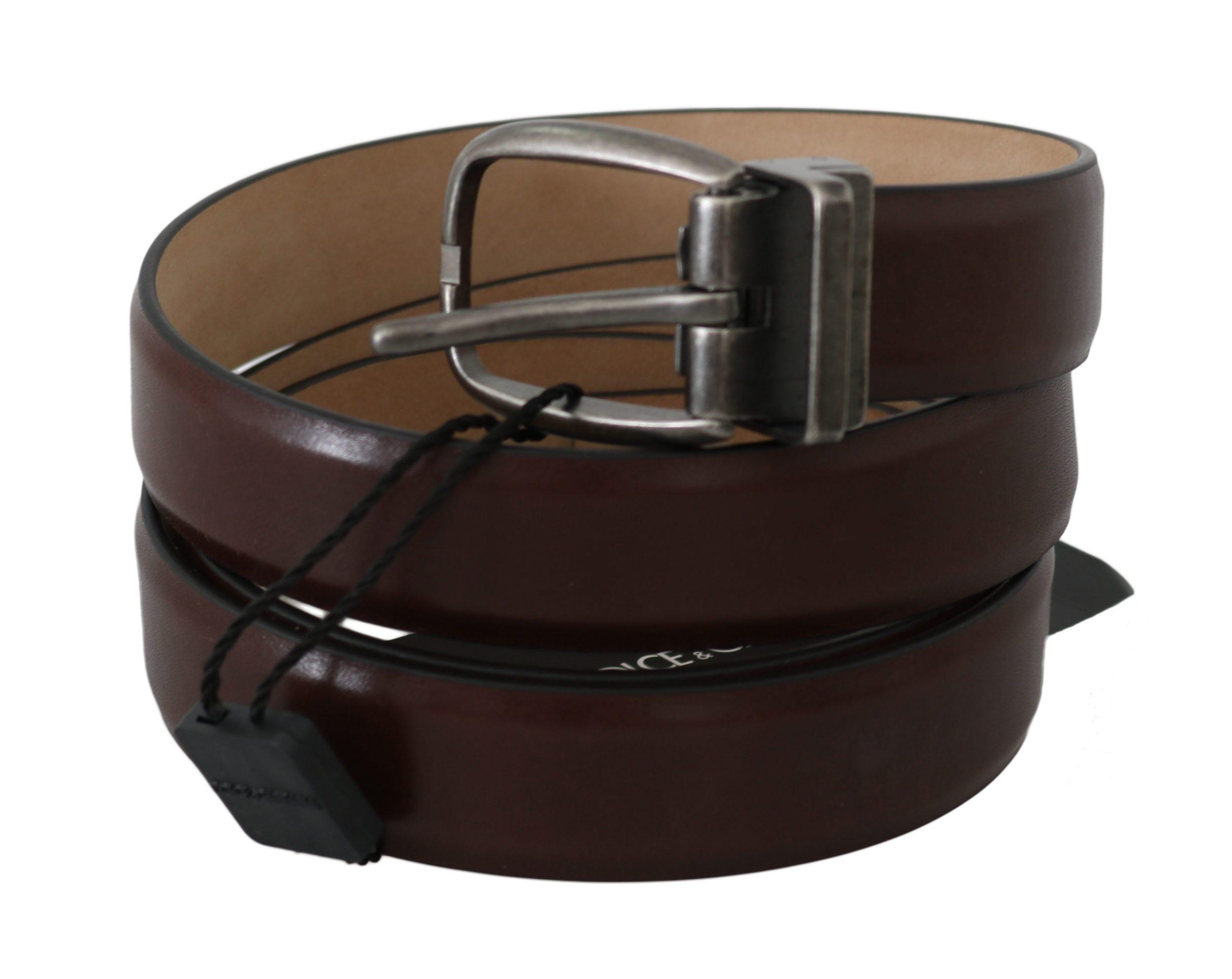 Dolce & Gabbana Women's Calfskin Leather Buckle Belt Brown BEL60333 - 100 cm / 40 Inches