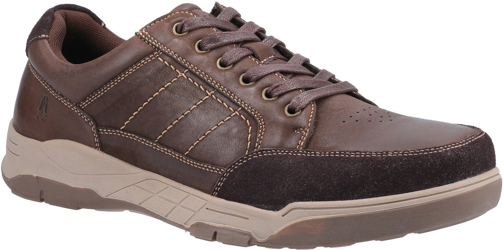 Hush Puppies Men's Finley Lace Trainer Various Colours 32011 - Coffee 7