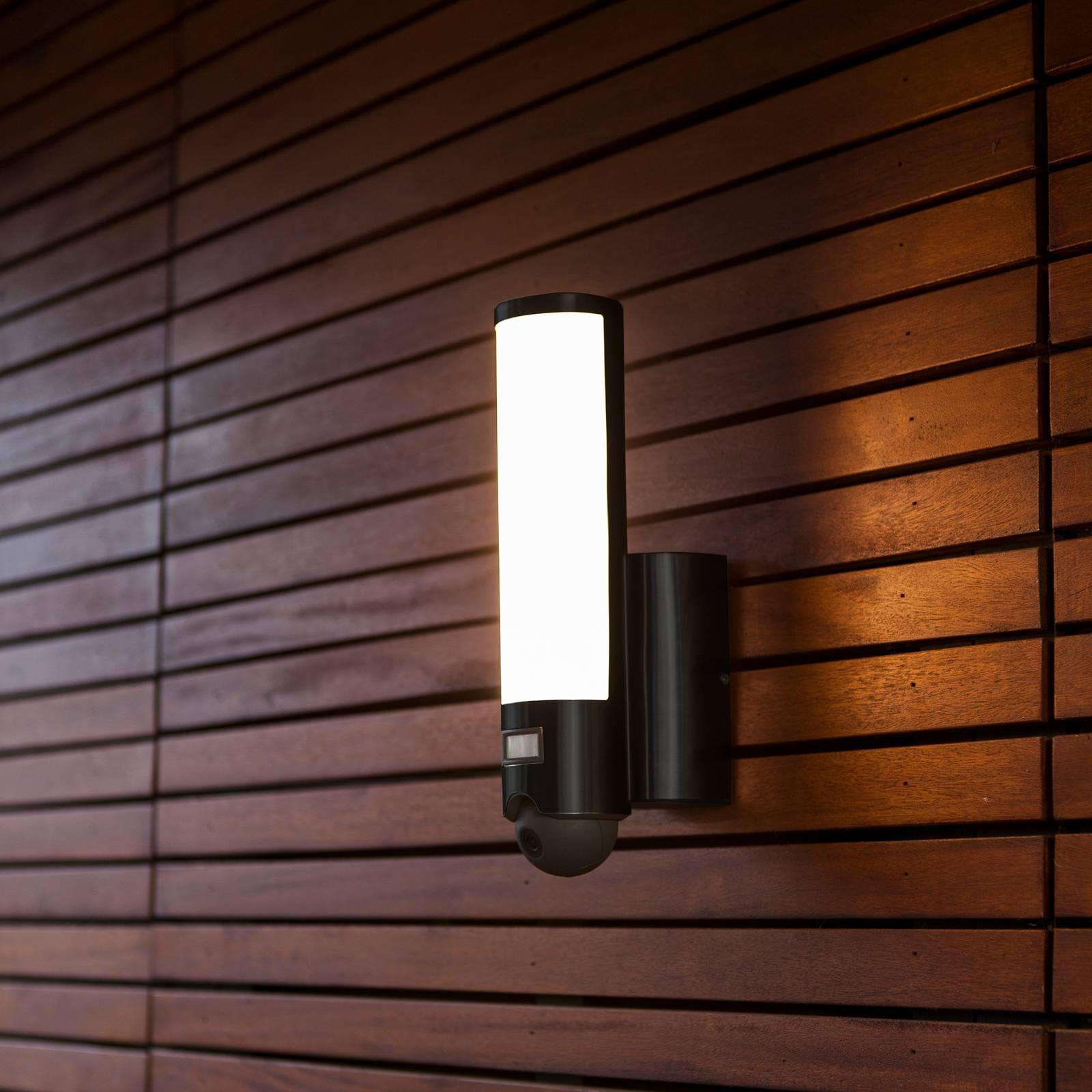 Secury'Light Elara LED-ulkoseinälamppu Kamera+BWM