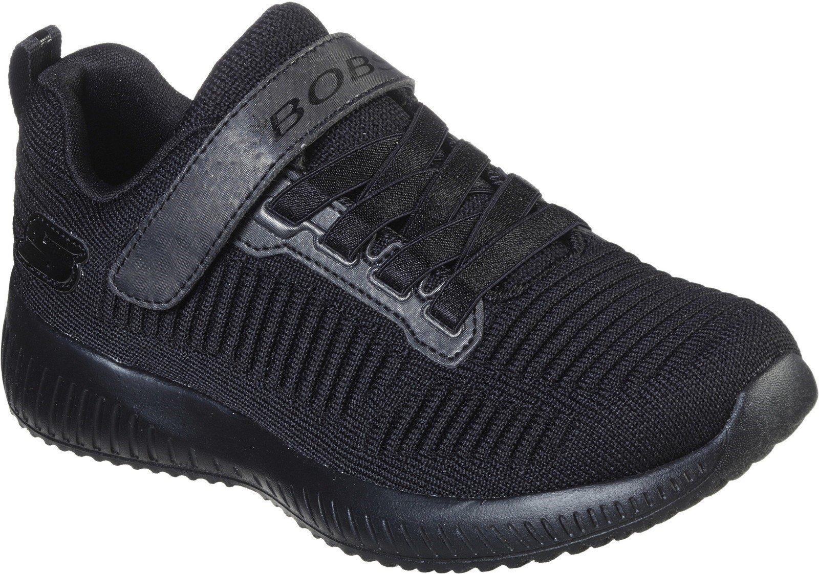 Skechers Kid's Sport Squad Charm League Trainer Black 30899 - Black/Black 10.5