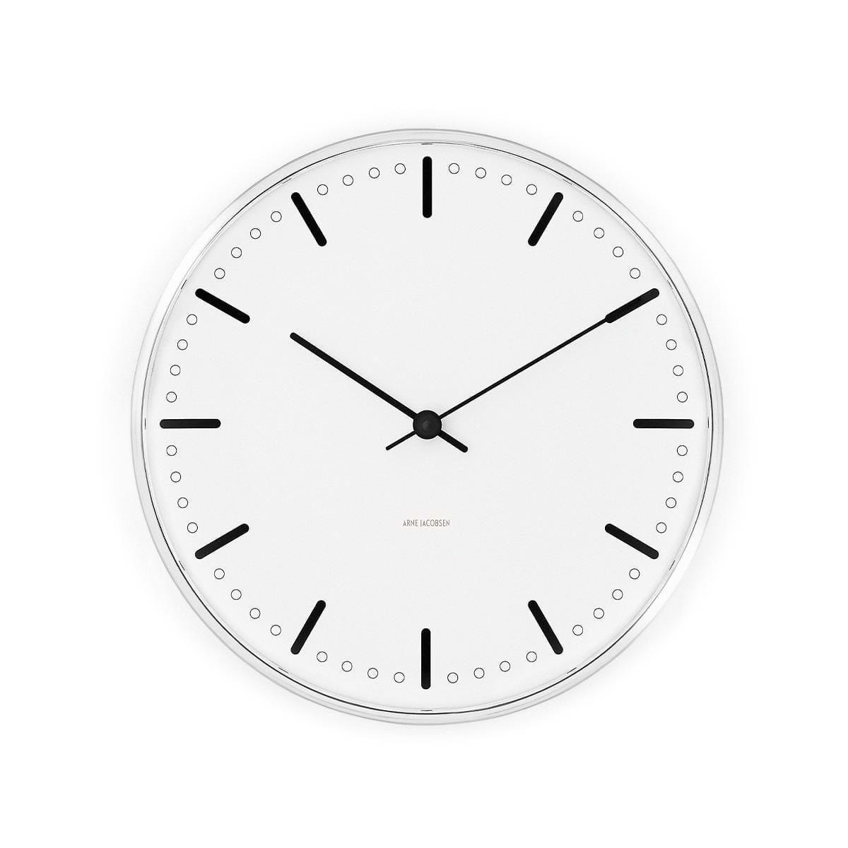 Arne Jacobsen - City Hall Wall Clock 29 cm - White (43641)
