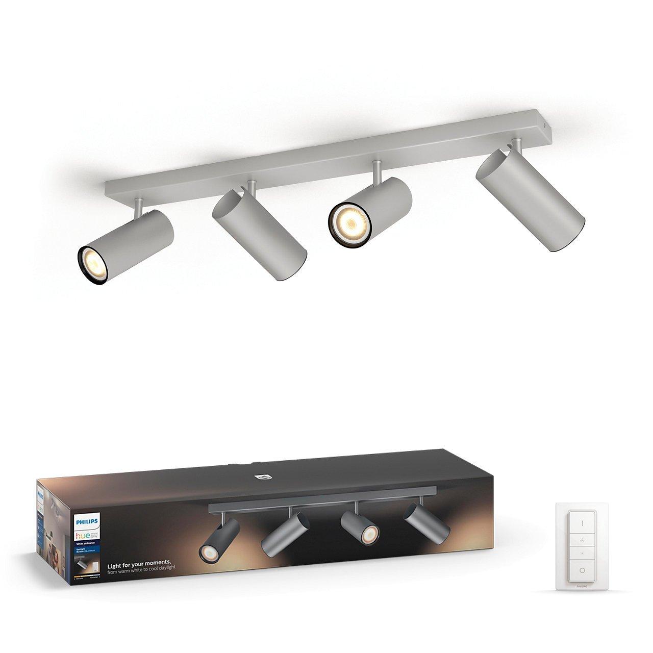 Philips Hue - Buratto 4-Spot Incl. Remote Aluminium - White Ambiance - E
